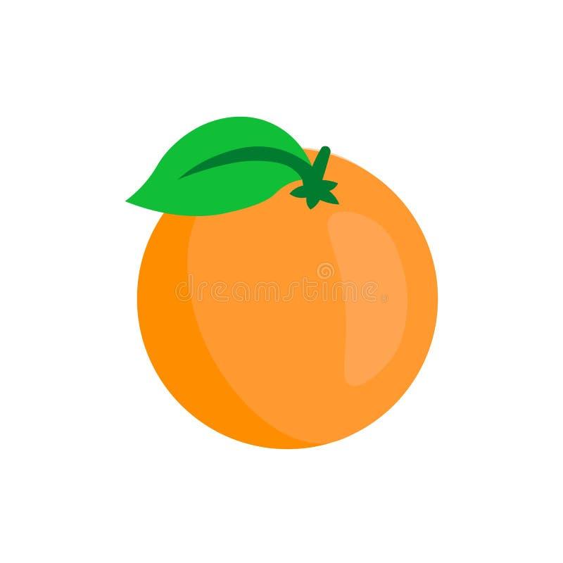 Sistema de la naranja Naranja aislada en el fondo blanco libre illustration
