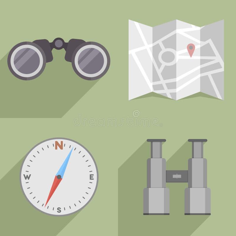 Sistema de la navegación stock de ilustración