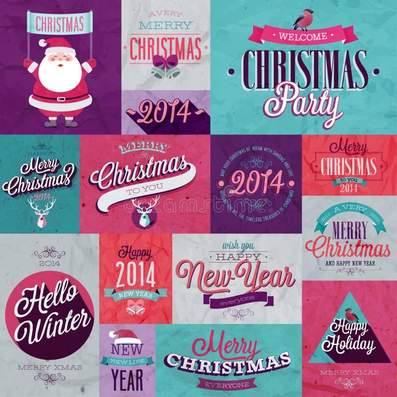 Sistema de la Navidad stock de ilustración