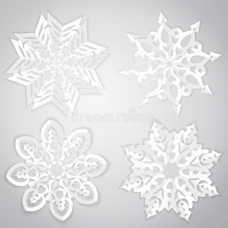 Sistema de la Navidad de copos de nieve libre illustration