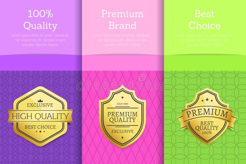 Sistema de la opción de marca superior de 100 calidades de carteles libre illustration