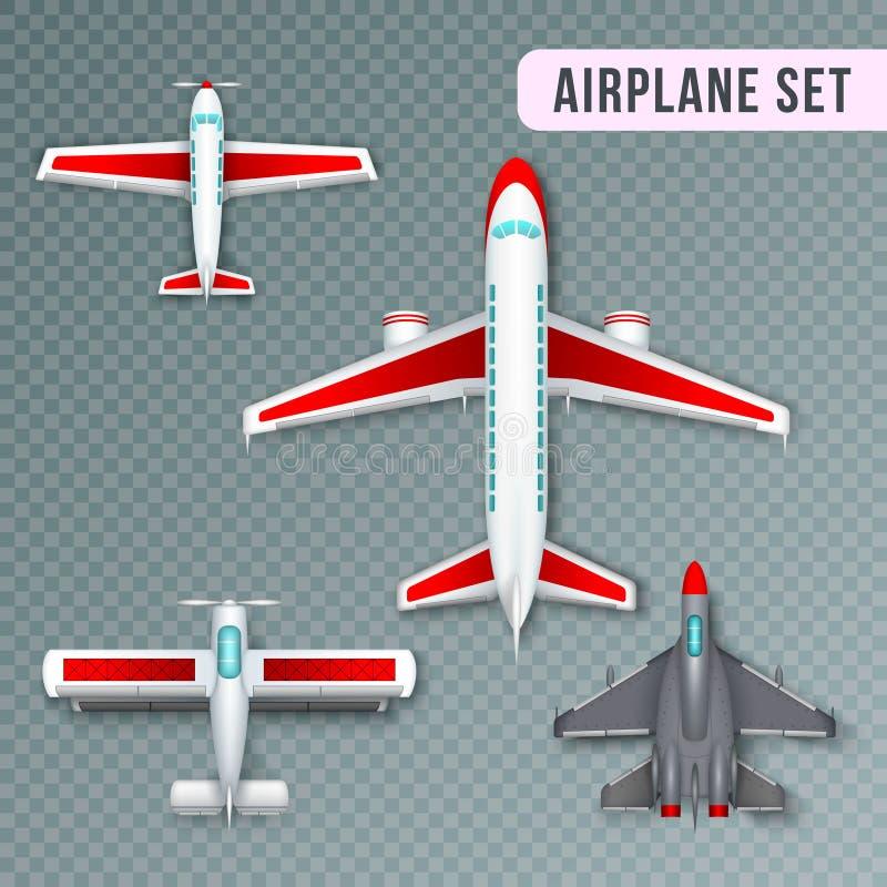 Sistema de la opinión superior del aeroplano stock de ilustración