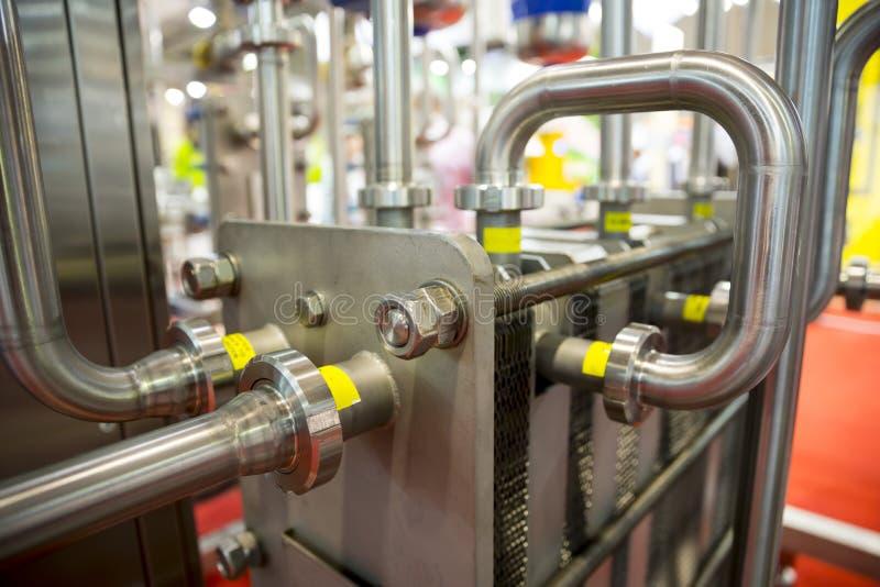 Sistema de la pasterización de la leche imágenes de archivo libres de regalías