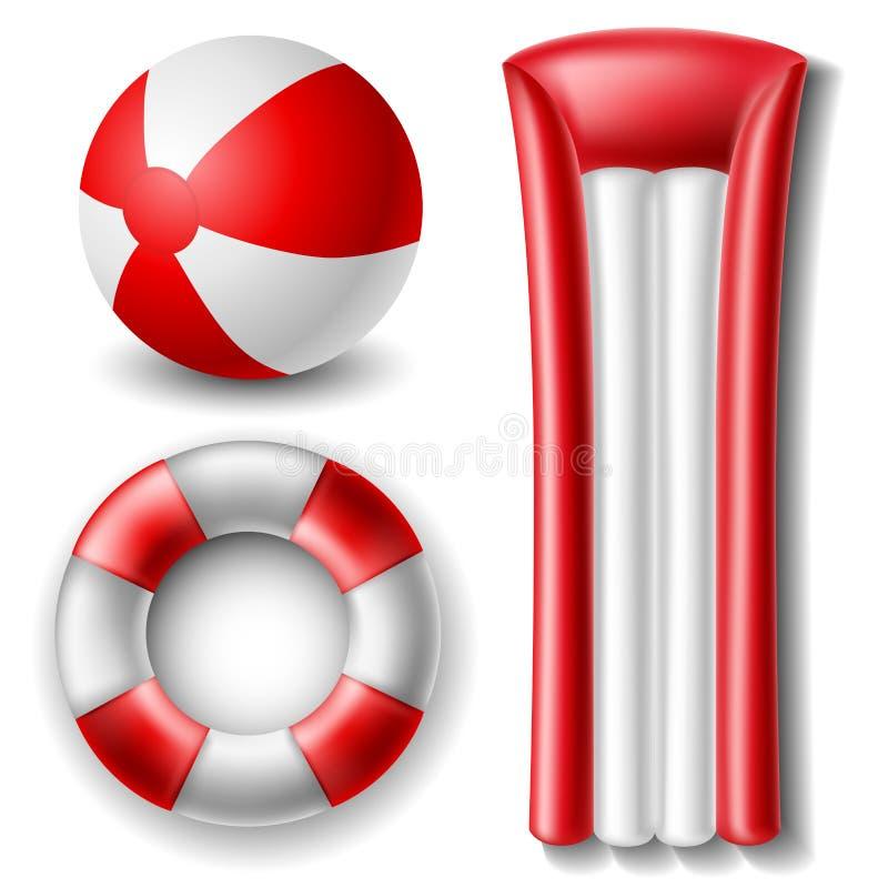 Sistema de la pelota de playa y del flotador libre illustration