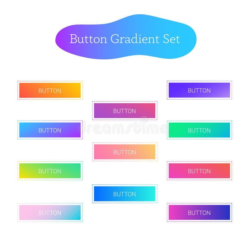 Sistema de la pendiente del botón libre illustration