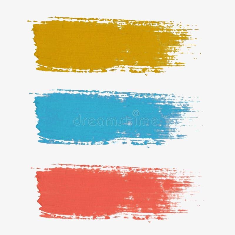 Sistema de la pintura-salpicadura coloreada del vector stock de ilustración