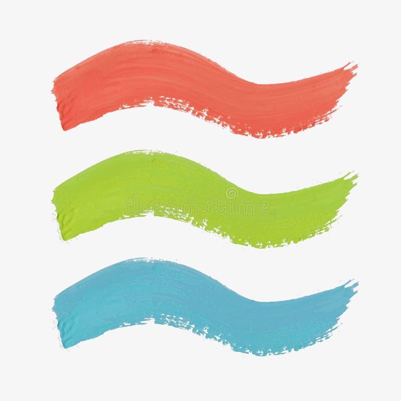 Sistema de la pintura-salpicadura coloreada del vector libre illustration