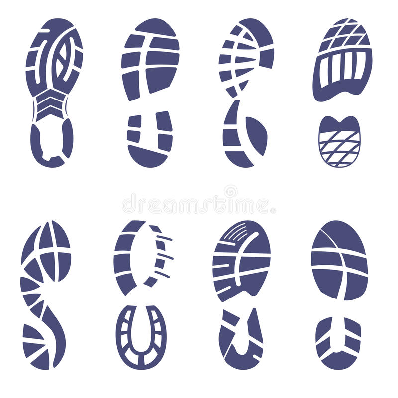 Sistema de la pisada de la zapatilla de deporte imágenes de archivo libres de regalías
