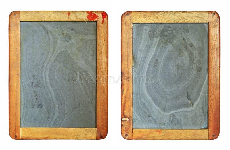 Sistema de la pizarra del vintage imagenes de archivo