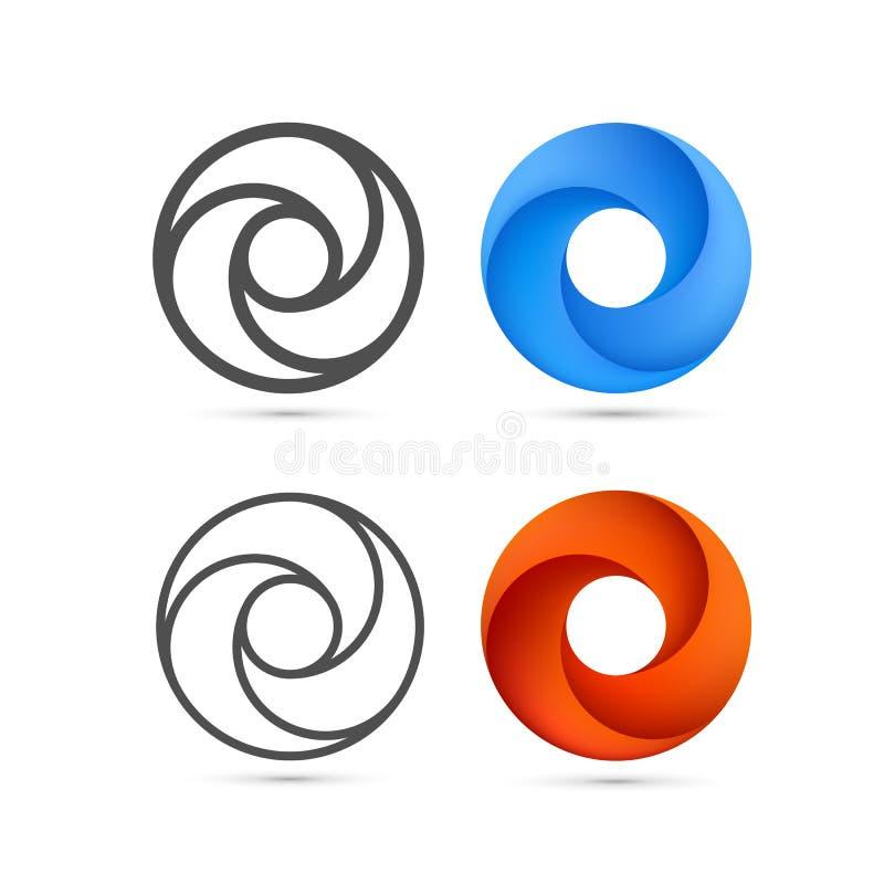 Sistema de la plantilla abstracta del bucle infinito libre illustration