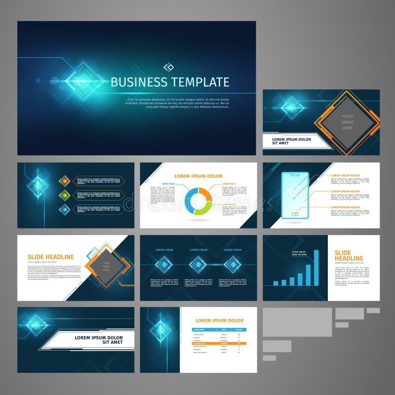 Sistema de la plantilla de la bandera del negocio de la presentación del vector ilustración del vector