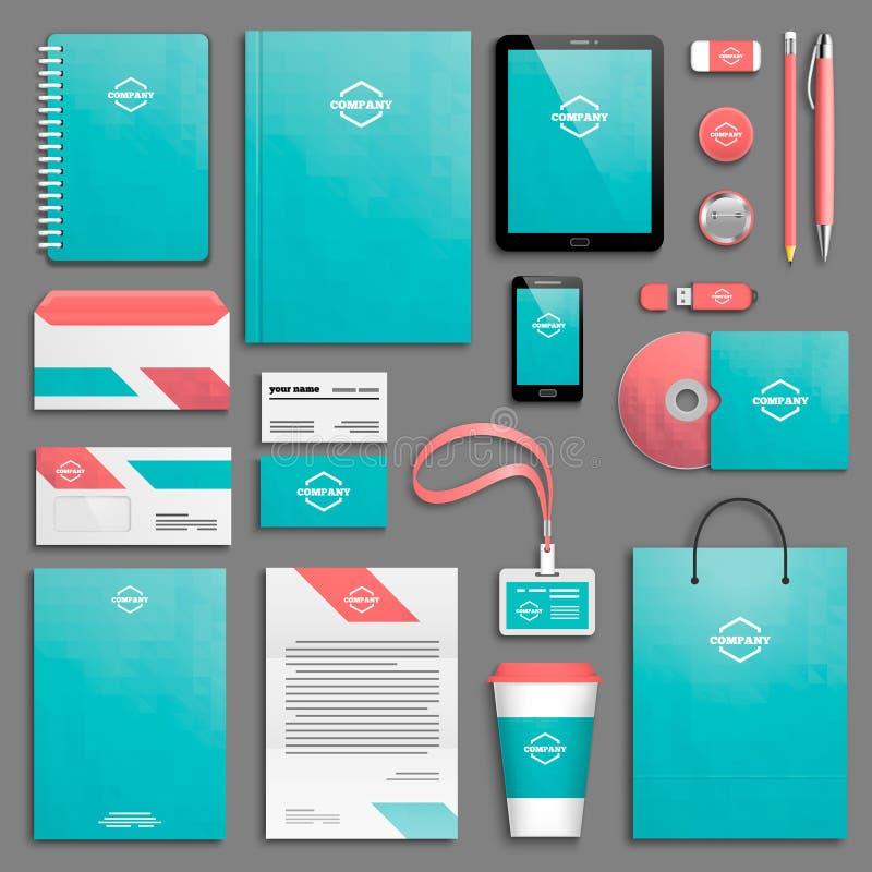 Sistema de la plantilla de la identidad corporativa libre illustration