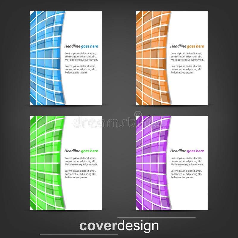 Sistema de la plantilla del aviador del negocio, de la bandera corporativa o del diseño de la cubierta ilustración del vector