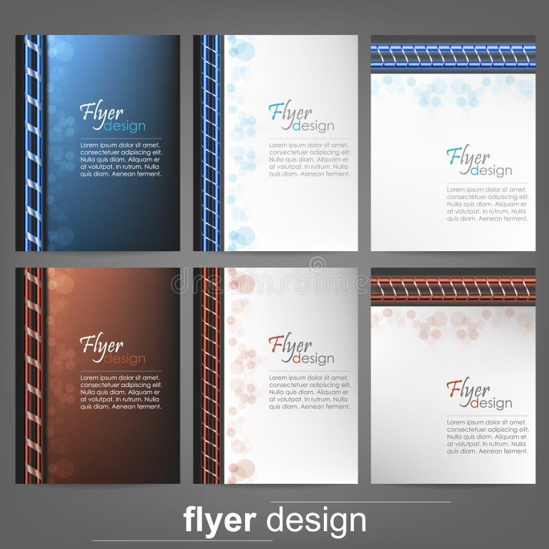 Sistema de la plantilla del aviador del negocio, de la bandera corporativa o del diseño de la cubierta stock de ilustración