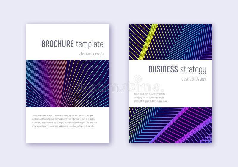 Sistema de la plantilla del diseño de la cubierta de Minimalistic Arco iris ab stock de ilustración