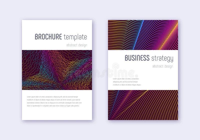 Sistema de la plantilla del diseño de la cubierta de Minimalistic Arco iris ab ilustración del vector