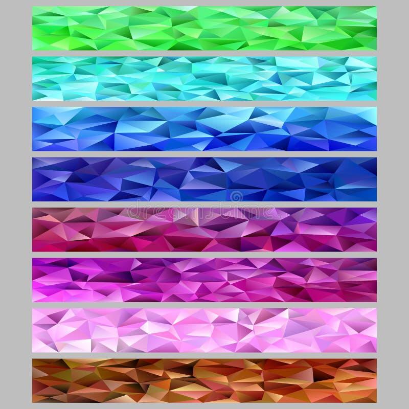Sistema de la plantilla del fondo de la bandera del web del mosaico del modelo del polígono del triángulo de la pendiente libre illustration