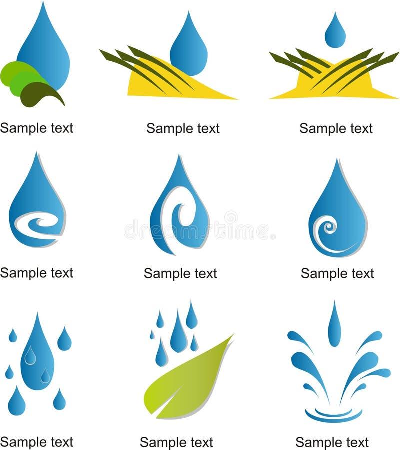 Sistema de la plantilla del logotipo del vector de la gotita stock de ilustración