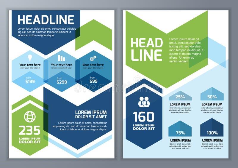 Sistema de la plantilla geométrica del vector para el folleto, aviador, cartel, ap libre illustration