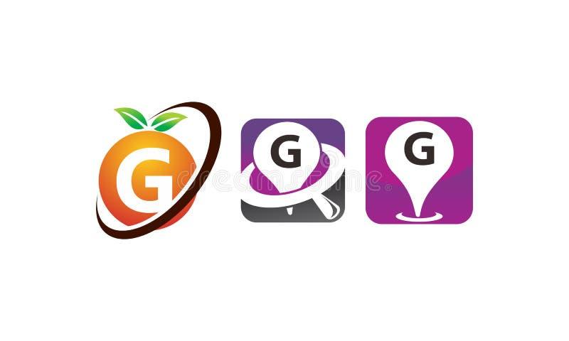 Sistema De La Plantilla De Pin Location Fruit G Ilustración del ...