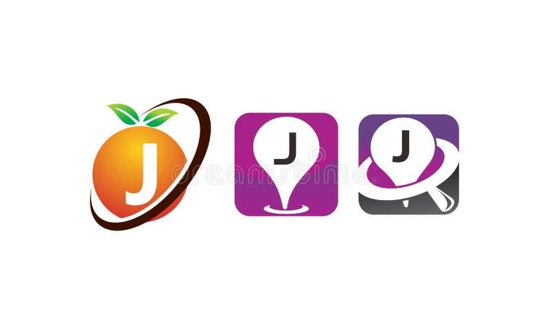 Sistema De La Plantilla De Pin Location Fruit J Ilustración del ...