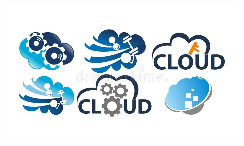 Sistema de la plantilla de la solución de la nube libre illustration