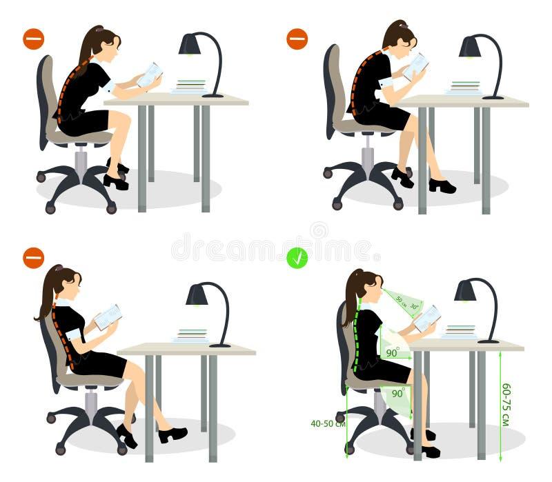 Sistema de la posición sentada stock de ilustración