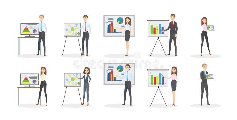 Sistema de la presentación del negocio ilustración del vector