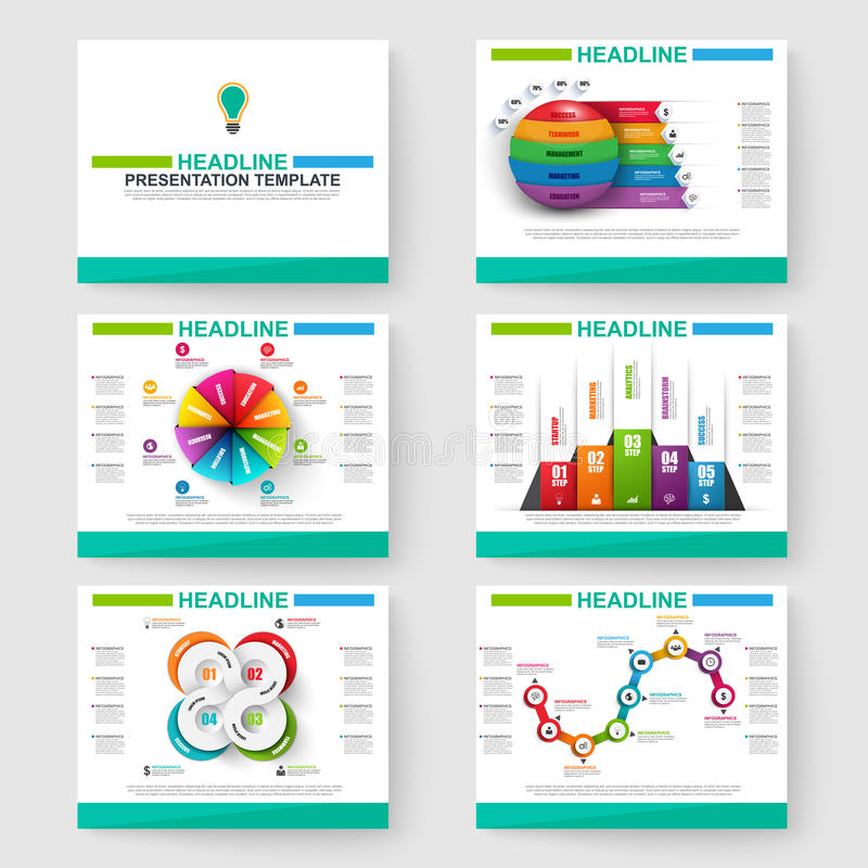 Sistema de la presentación multiusos infographic para PowerPoint libre illustration