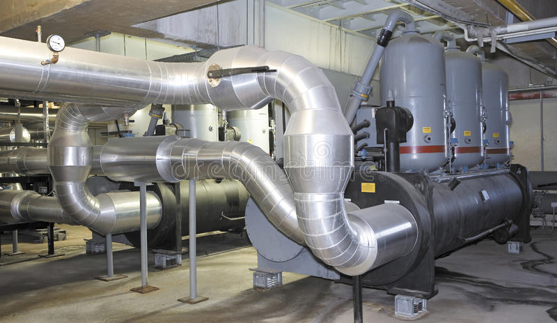 Sistema de la producción de energía para el centro comercial, la fábrica y los sitios vivos fotos de archivo libres de regalías