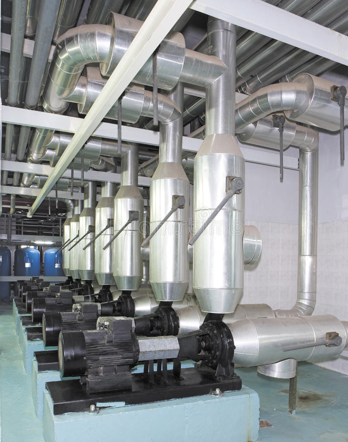 Sistema de la producción de energía para el centro comercial, la fábrica y los sitios vivos foto de archivo libre de regalías