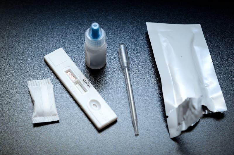 Sistema de la prueba del VIH fotos de archivo