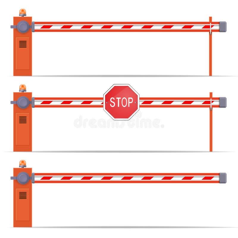 Sistema de la puerta de la barrera del coche que parquea libre illustration