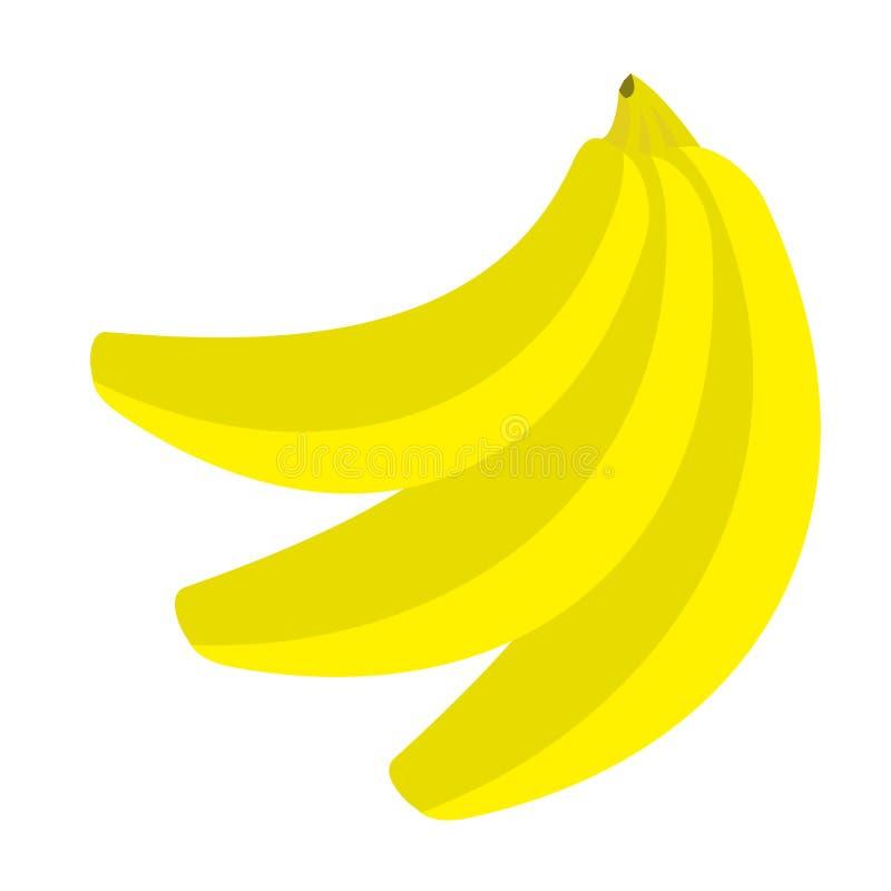 Sistema de la rama del icono del plátano Forma de vida sana de la comida Colección de la fruta fresca Tarjeta educativa para los  ilustración del vector