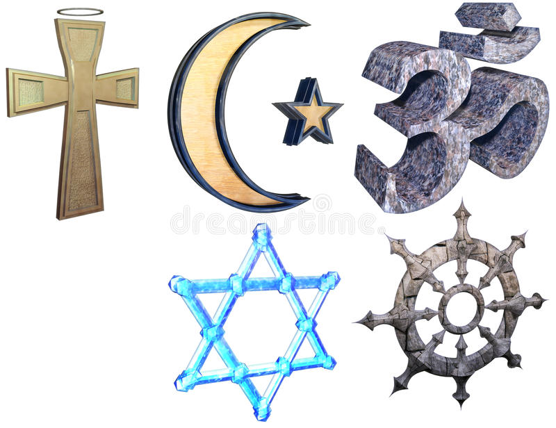 Sistema de la religión stock de ilustración
