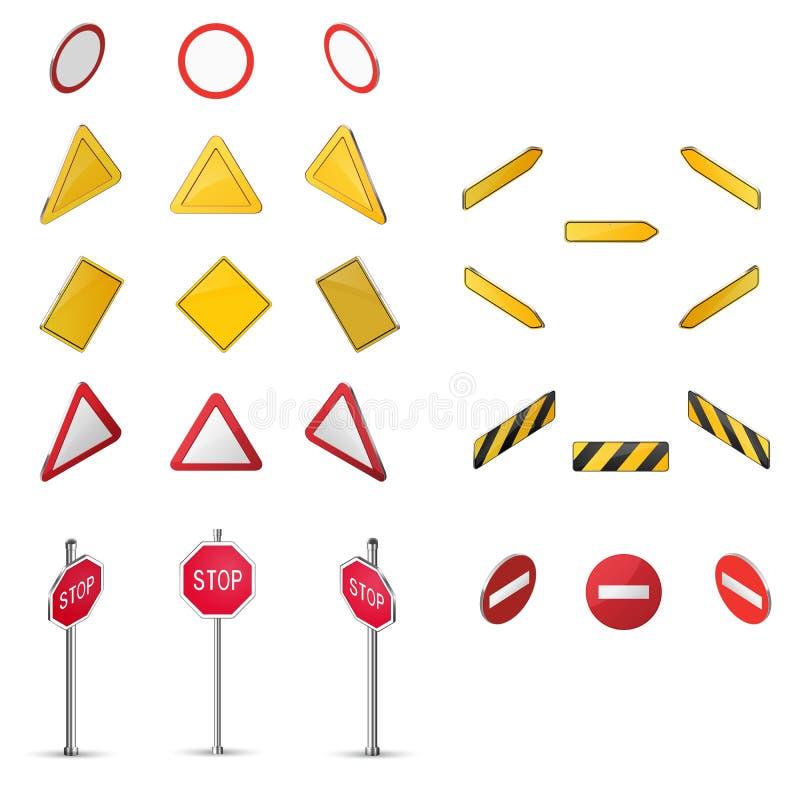 Sistema de la señal de tráfico en blanco libre illustration