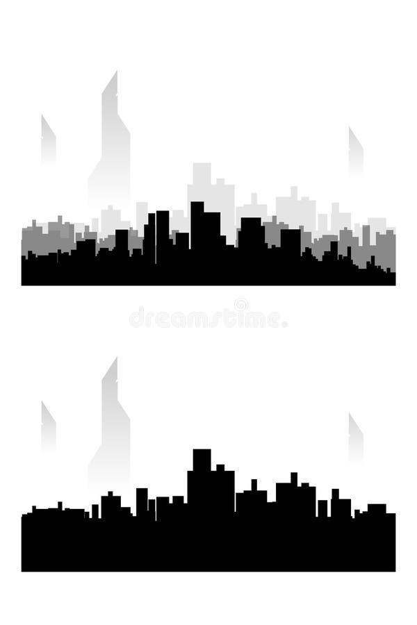 Sistema de la silueta de la ciudad libre illustration