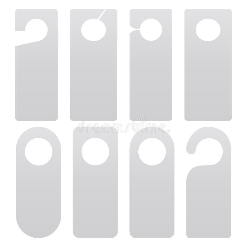 Sistema de la suspensión de puerta aislado en el fondo blanco ilustración del vector