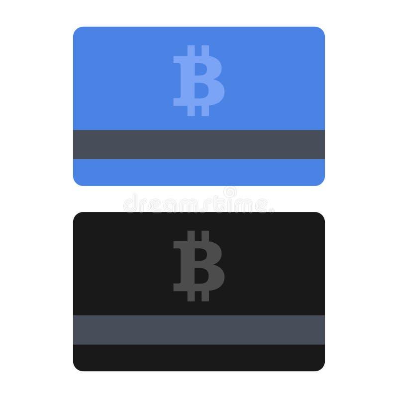 Sistema de la tarjeta de crédito de Bitcoin Iconos planos del estilo Vector libre illustration