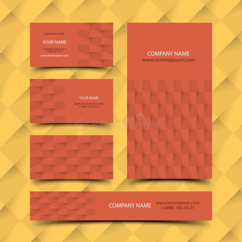 Sistema de la tarjeta de visita de construcción stock de ilustración