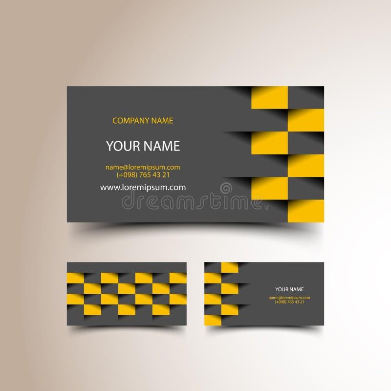 Sistema de la tarjeta de visita del taxi ilustración del vector