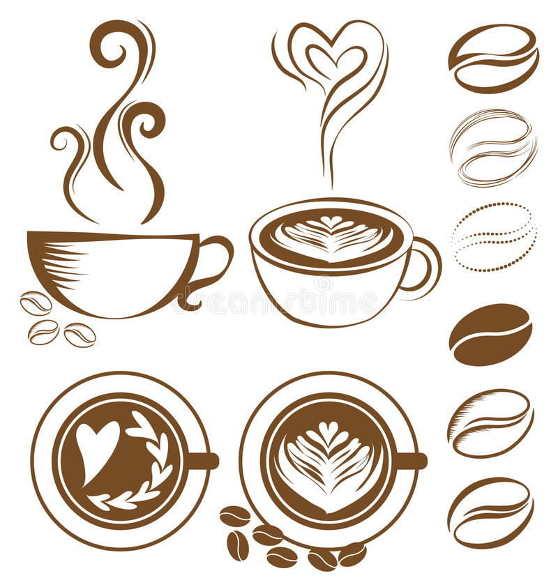 Sistema de la taza de café libre illustration
