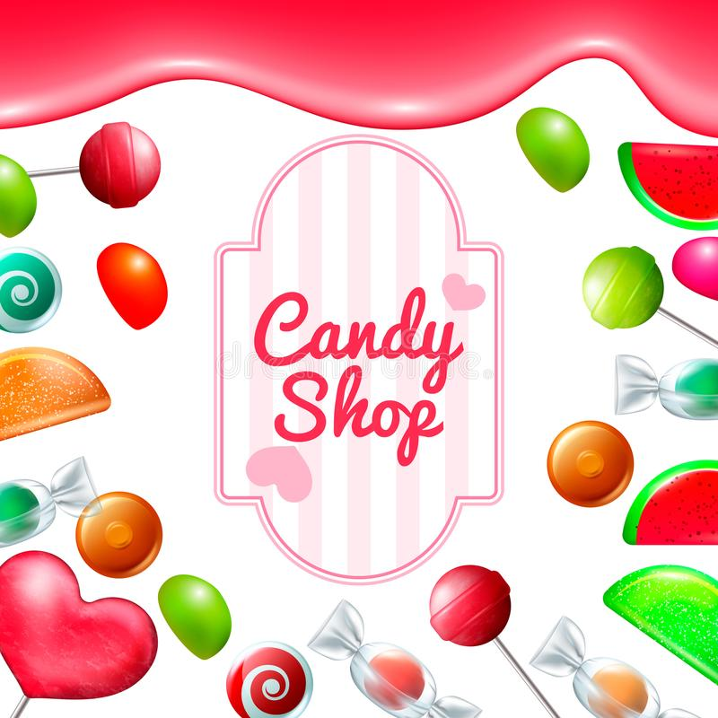 Sistema de la tienda del caramelo libre illustration