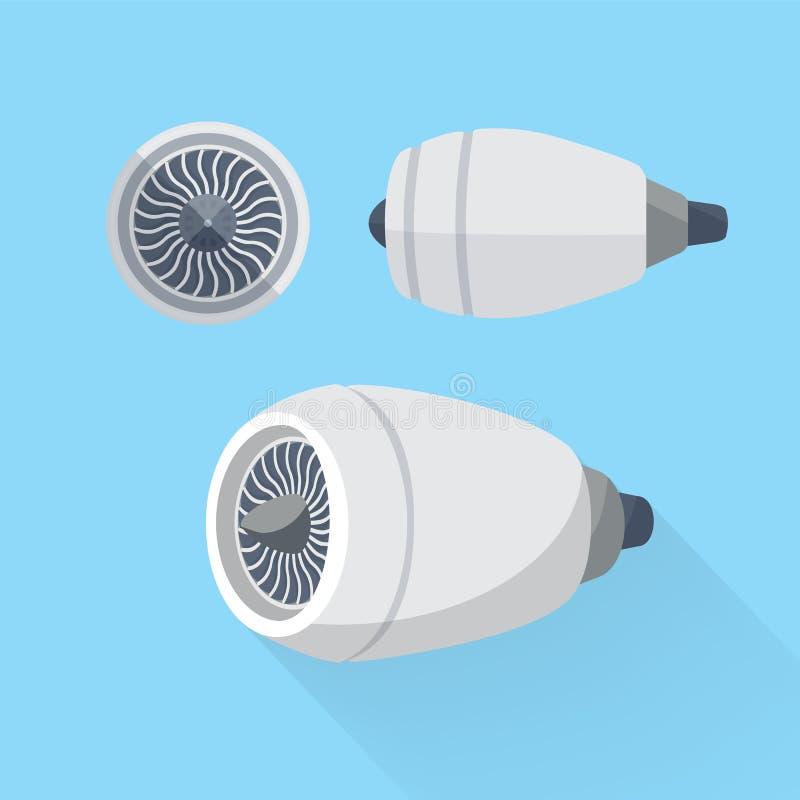 Sistema de la turbina de la unidad del motor de avión Ejemplo plano libre illustration