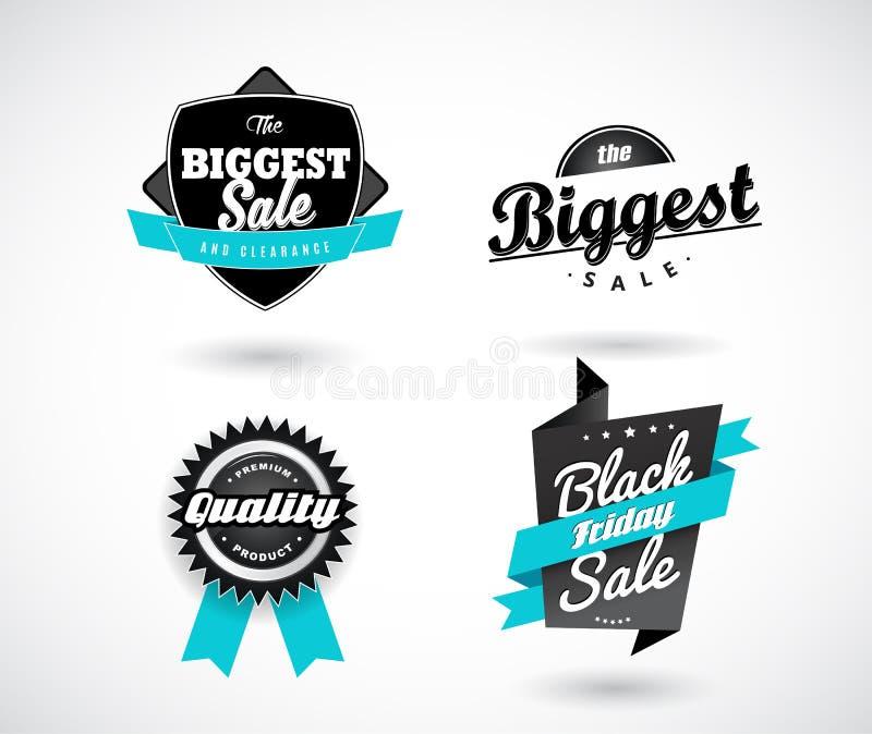 Sistema de la venta, Black Friday, la venta más grande, calidad superior stock de ilustración