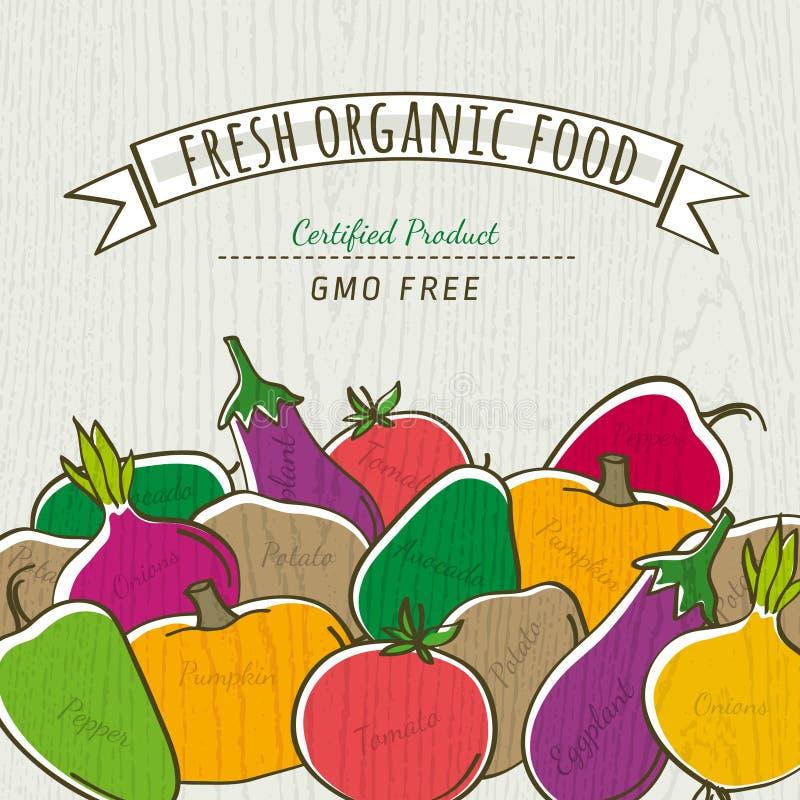 Sistema de la verdura orgánica, vector libre illustration