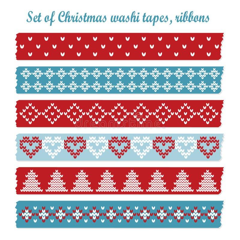 Sistema de las cintas del washi de la Navidad del vintage, cintas, modelos libre illustration