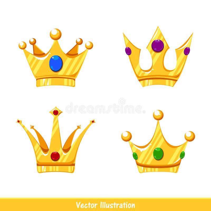 Sistema de las coronas de la historieta modelo Cuatro coronas libre illustration