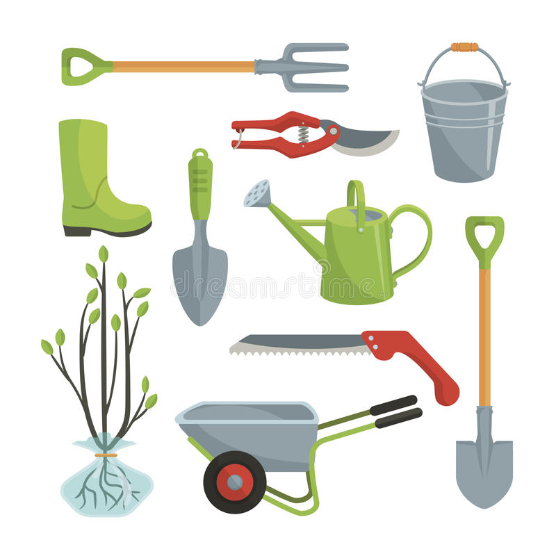 Sistema de las diversas herramientas agr colas para el for Herramientas para el jardin