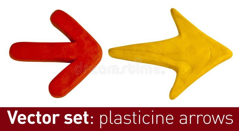 Sistema de las flechas del plasticine para su diseño imagen de archivo
